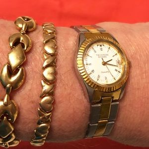 Vintage Technos watch stainless steel gold plated